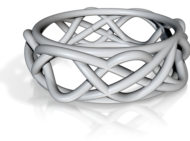 Sine Ring Irregular 3d printed