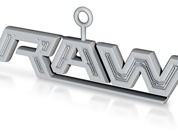 Raw Logo 3d printed