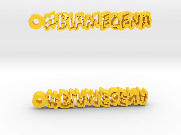 #BlameCena Earrings 3d printed