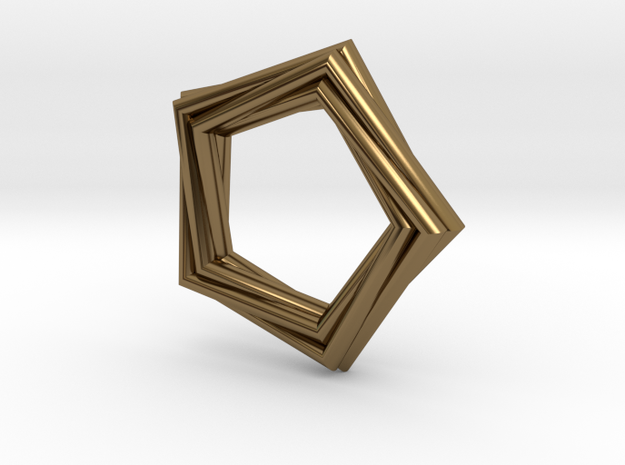 Pentagonal Pendant or Ring 3d printed