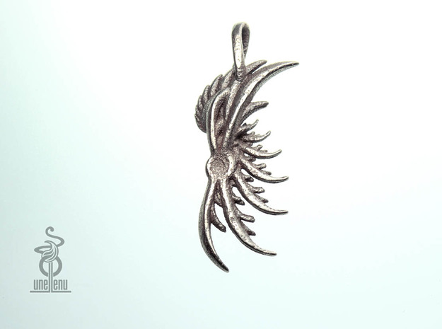 Pendant : Wing 3d printed Angel wing pendant back