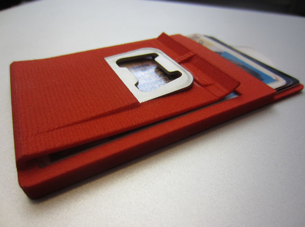 Slim minimalistic Wallet, money clip, bottleOpener 3d printed