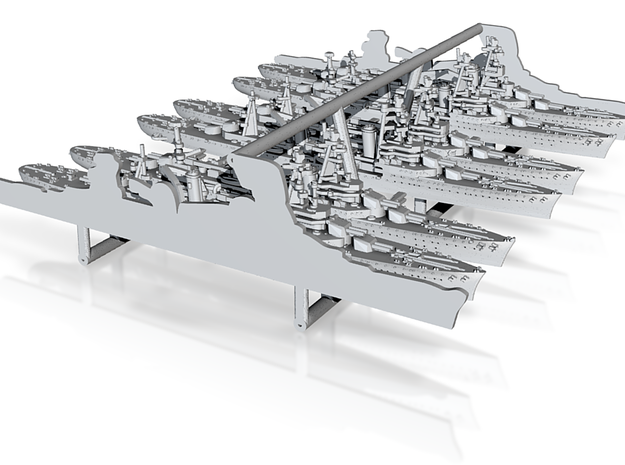 48FN05 French Navy Heavy Cruisers 3d printed