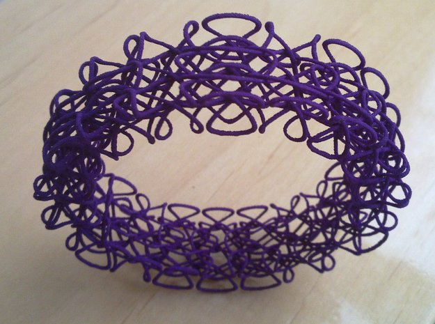 Celtic Bracelet 3d printed Standing on-edge