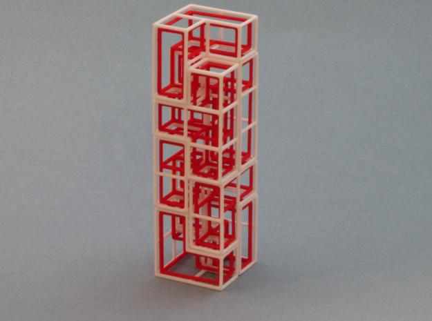 """SOMA's Revenge"" - Interlocking Puzzle Cube 3d printed The Tower - One of hundreds of figures to build"