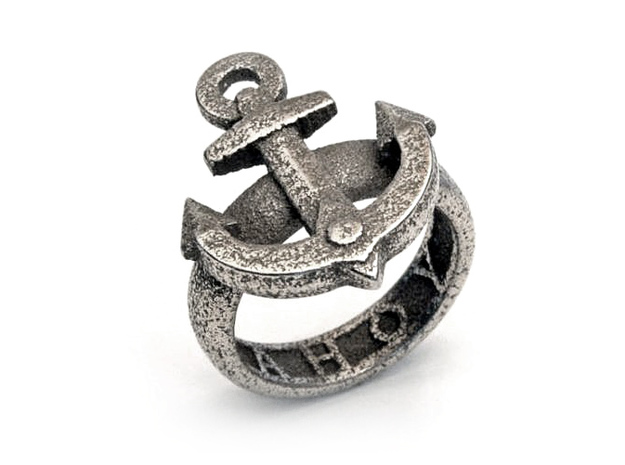 Ahoy Ring (various sizes) 3d printed Stainless Steel
