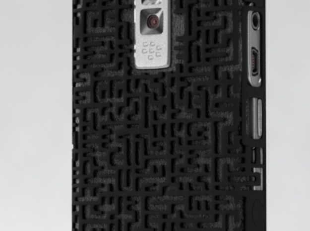 BlackBerry 9000 Maze Case 3d printed