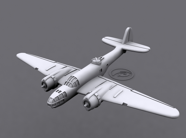 1/700 Martin 167 Maryland (x6) 3d printed 3D software render of individual aircraft