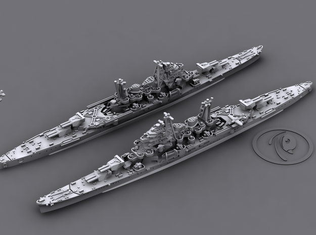 1/1800 IJN CA Maya[1944] 3d printed 3D software render, aircraft not included