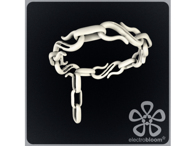 S Hook chain bracelet. 3d printed