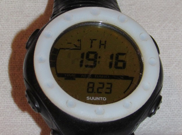 replacement watch bezel v0.0 3d printed Face on view.