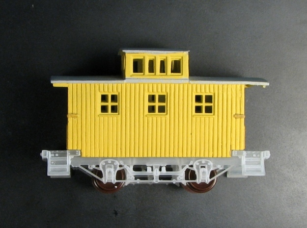 R24a New N Chassis for Bachmann Bobber Caboose x2 3d printed R24 under a modified Bach bobber