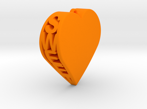Sweet Heart Pendant 3d printed