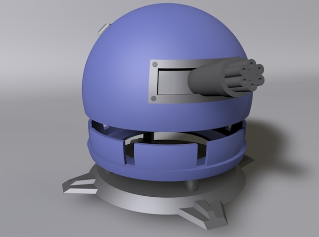 Fieldrunners Gatling Turret 3cm 3d printed 3D render of Fieldrunners Gatling Turret
