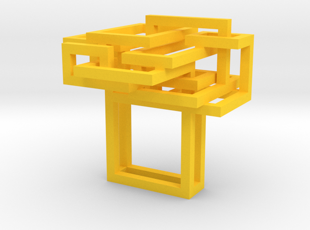 open square ring size 7 3d printed