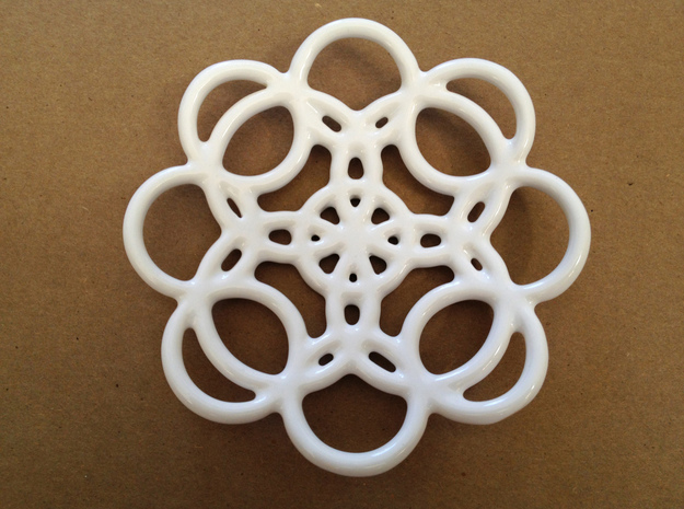 Circles Soap Dish 3d printed Top view