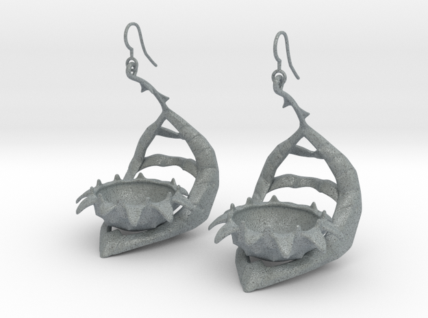Carnivorous plant earring Planter 3d printed