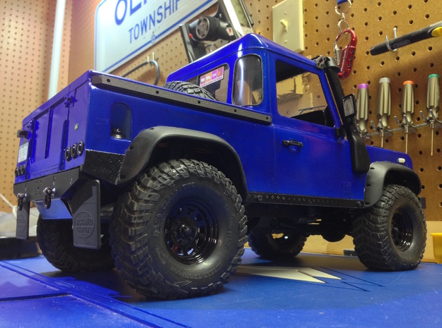 Defender Body Sliders 3d printed Finished product installed.