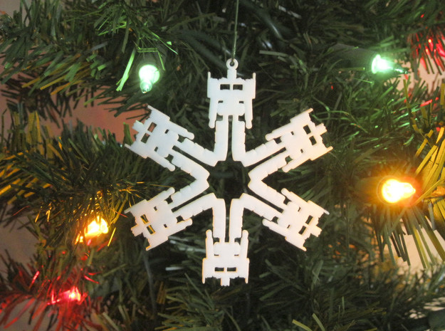 Snowflake Optimus Prime Ornament