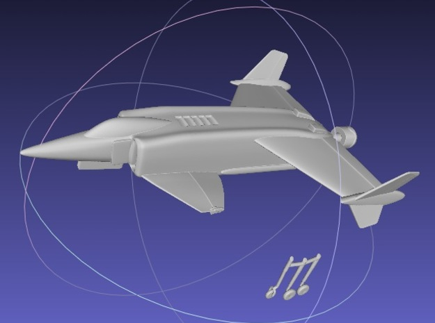 1/144 Rockwell XFV-12 3d printed