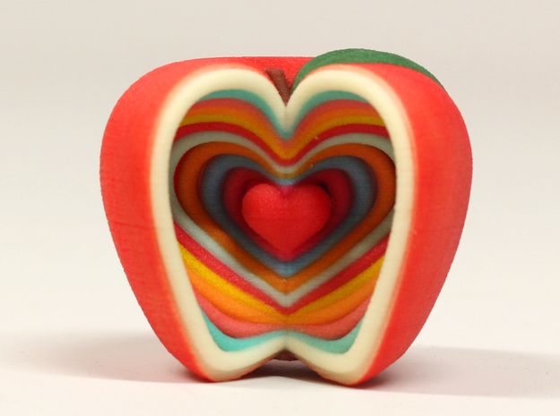 Growing Heart Apple 3d printed