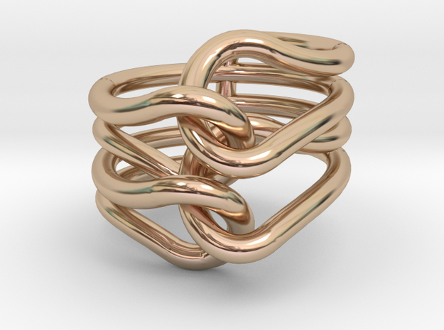 Knit Ring 3d printed