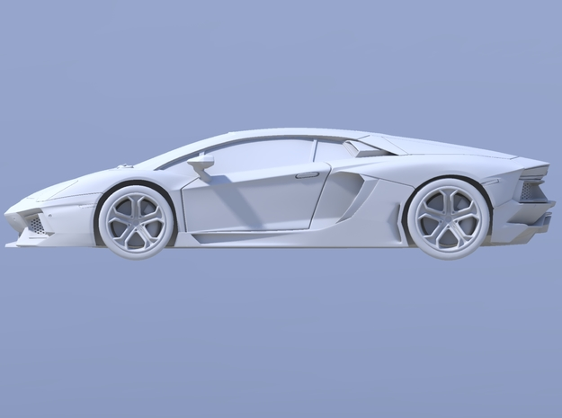 75mm - Hollow: Lamborghini Aventador 3d printed