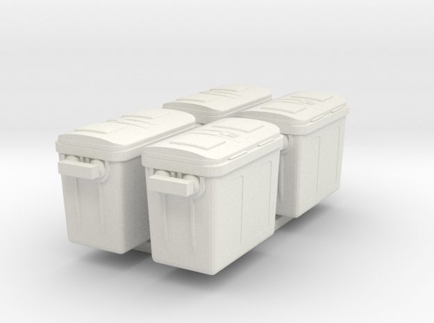 1/87 Scale Freezer Containers x4 3d printed