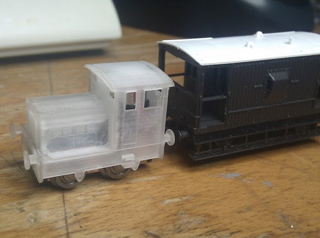 "Ruston 48DS N scale. About 6"" (1mm) wider than acc"