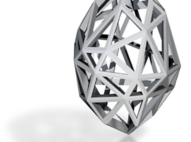 Pendant Rough Diamond SMALL 3d printed