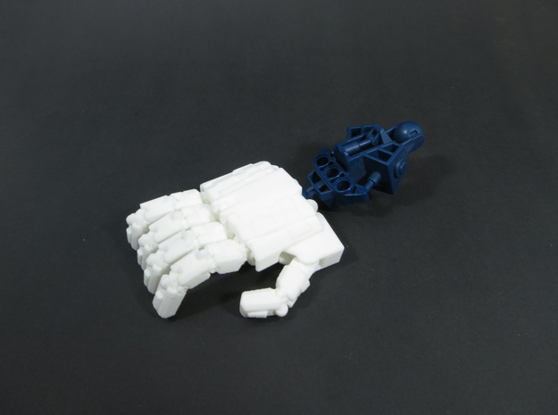 M variant - Extremely Enormous Extremities 3d printed Wrist joint compatible with Bionicle ball joints.