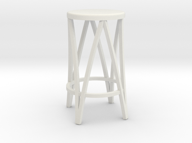 Miniature 1:24 Metal Stool