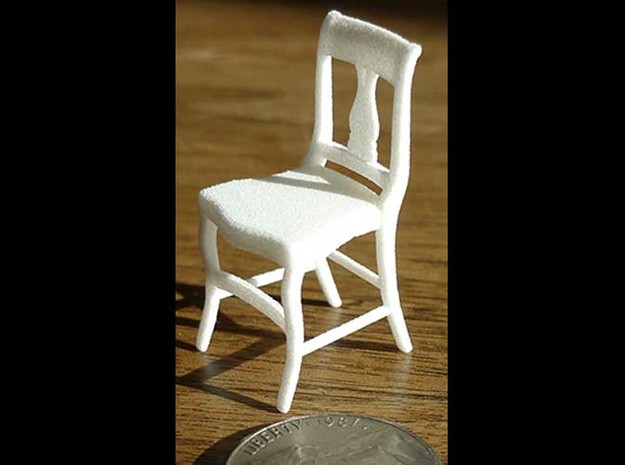 1:24 Wood Chair 1 (Not Full Size) 3d printed