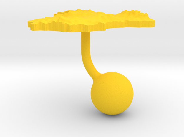 Spain Terrain Cufflink - Ball 3d printed