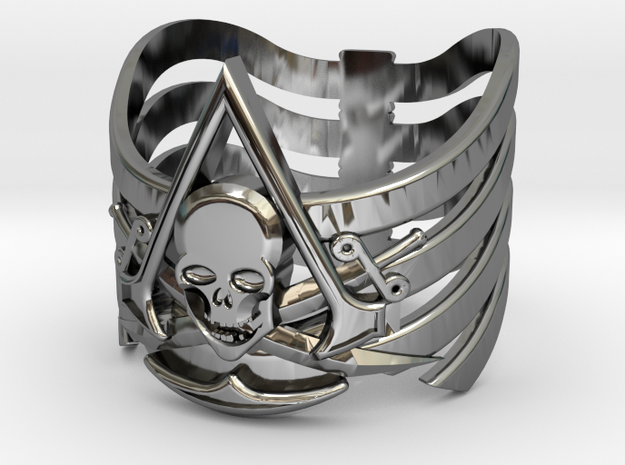 AC pirate ring-med.sizes(15mm/22mm) 3d printed