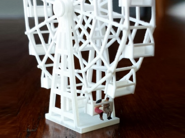 Ferris Wheel - Zscale 3d printed Primer, People and Photo by Karin Snyder