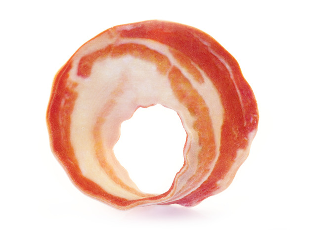 Bacon Mobius Strip 3d printed Uncoated Front