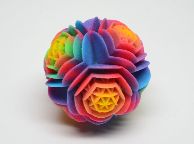 Rainbow Desert Rose - imaginary rock collection 3d printed