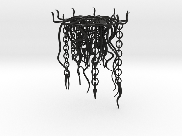 Jellyfish Lampshade part B: tentacles 3d printed