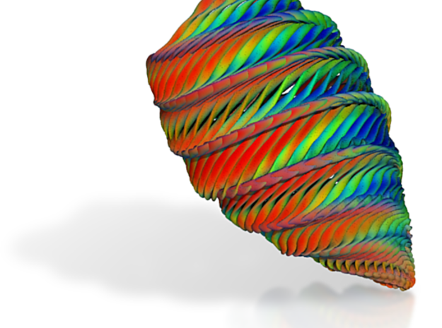 Large Rainbow Conch 3d printed