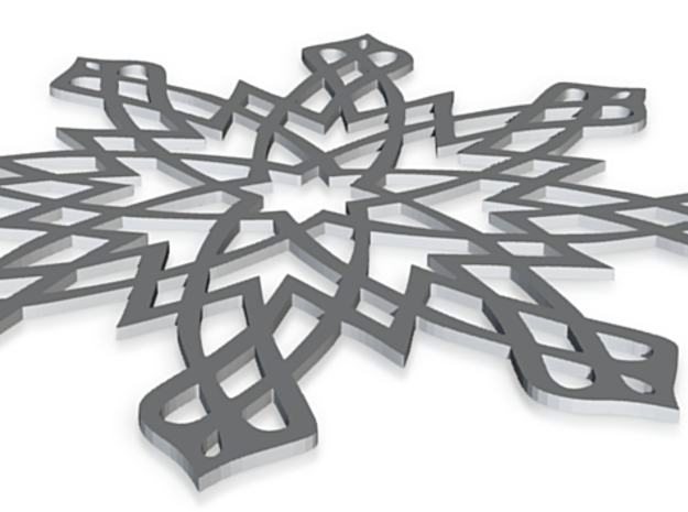 Islamic Snowflake Ornament 3d printed