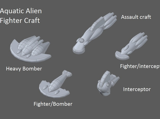 10 Aquatic fighters 3d printed faction preview