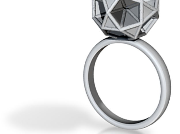 Polyhedron Ring Size 7 3d printed