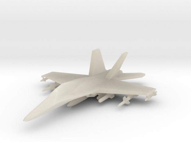 1/285 (6mm) F-18 Super -w/Conform Tanks w/ord-1 3d printed
