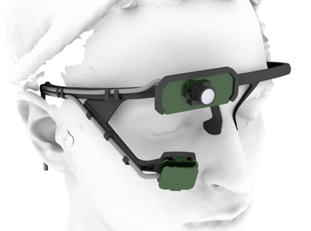 Pupil mobile eye tracking headset 3d printed
