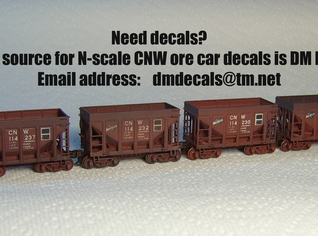 CNW Ore Car Two Pack, N Scale 3d printed