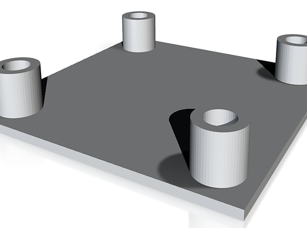Square truss base plate 1:10 3d printed