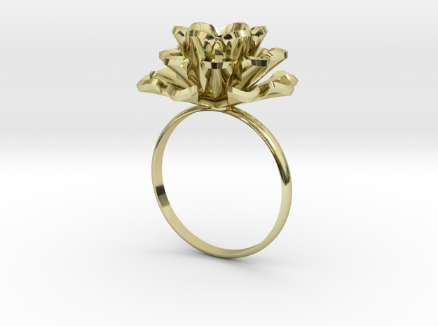 jewelry ring aeonium 3d printed