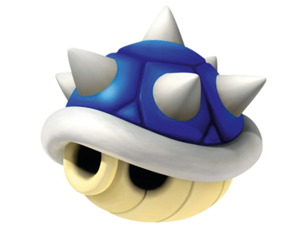 Spikey Blue Shell Puzzle Box 3d printed