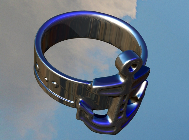 Anchor Ring - size 8 3d printed